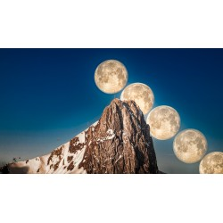 Moon series on the Stockhorn