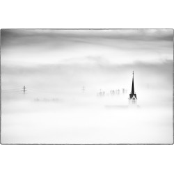 Protruding from the fog